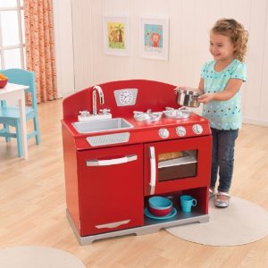 Kids Wooden Play Kitchen Sets