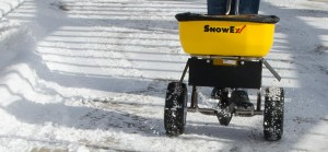 walk snowex spreader