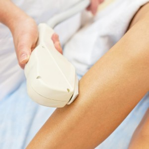laser hair removal clinical session